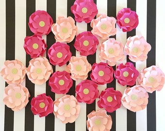 Pink Flower Confetti, 3D Flower Confetti Table Setting, 3 INCH, Pink Paper Flowers Table Decor, Loose Flowers, Table Decor, Sweet 16