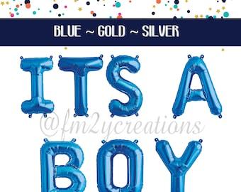 ITS A BOY | Its A Boy Letter Balloon |  Its a Boy Baby Shower | Oh Boy Boy Baby Shower Decor Letter Banner Balloons | Foil Letter Balloons