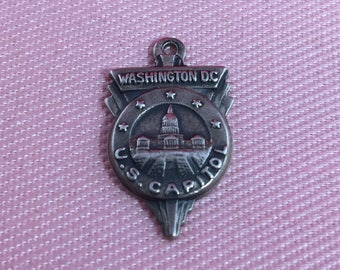 Washington DC US Capitol Sterling Silver Charm