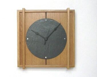 The Mantel clock, a contemporary design using reclaimed oak