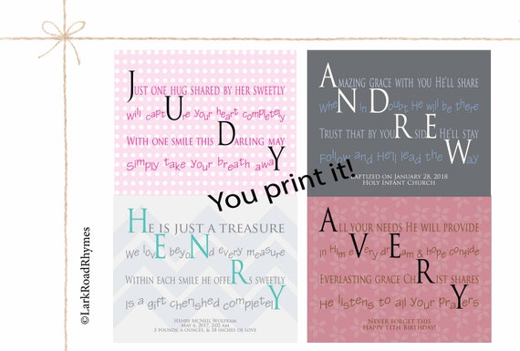 Personalized baby gifts baby shower gift nursery decor name like this item negle Images