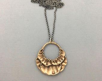 Bloom Necklace in bronze