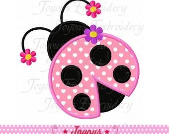 Instant Download Girl Ladybug Applique Machine Embroidery Design NO:2003