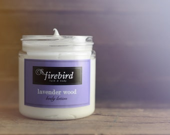 Lavender Wood Body Lotion, Avocado and Shea Butter Lotion