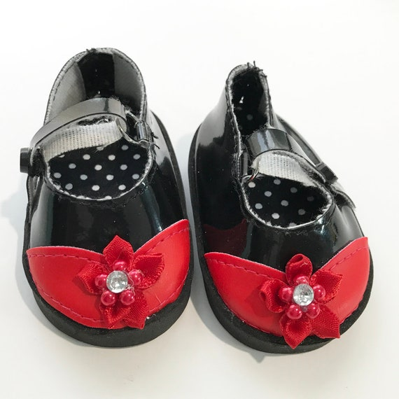 "Mary Jane Shoes with Toe Detail for American Girl and Other 18"" Dolls"
