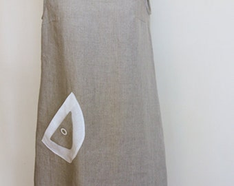 Linen dress - natural linen colour  Summer dress