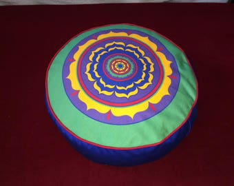 Circular Mandala Meditation Pillow