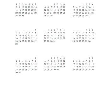 2017 Blank Calendar - A4