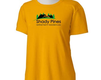 SHADY PINES Retirement Residences Golden Girls T-Shirt -Adult Womens sizes S-3Xl many colors -80s TV dorothy sophia rose blanche betty white
