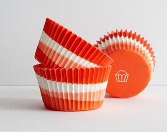 Cupcake Liners  Orange Swirl Baking Cups , 100 Bright  Fun Baking Cups  Standard