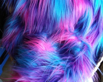 Luxury Super Soft Long Funky 'Aurora' Faux Fur approx 70 - 75mm pile