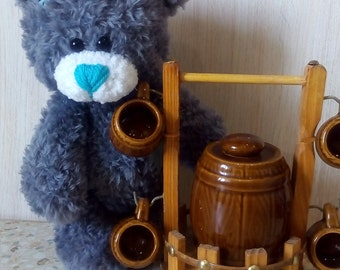 Amigurumi bear Teddy Bear Crochet Bear Plush Bear Stuffed Animal Baby Shower Gift Kids Toy Bear bear with patches handmade teddy