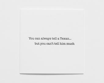 Tell a Texan - Card