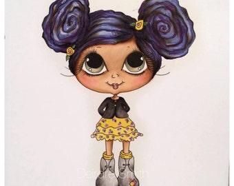 INSTANT DOWNLOAD Digital Digi Stamps Big Eye Big Head Dolls NEW Besties img659 Bestie Eyes My Besties By Sherri Baldy