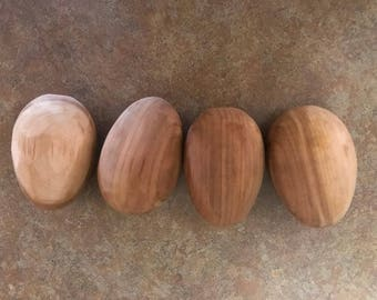 Rustic Wooden Eggs!