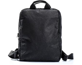 black backpack laptop backpack womens backpack bag travel vegan backpack work backpack college backpack birthday gifts for her - UNOBPF