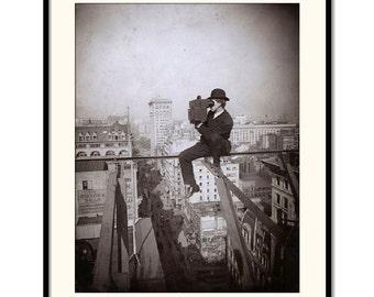New York, Black and White, vintage art, photography, Underwood & Underwood, vintage photo