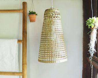 Bamboo Pendant Lamp, Hanging Woven Lamp, N-6