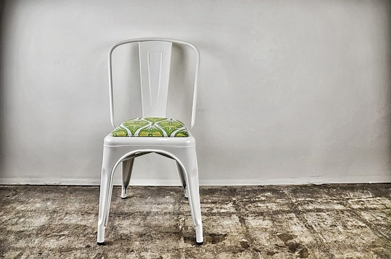 Custom Upholstered Tolix Style Side Chairs: In The Fabric Of