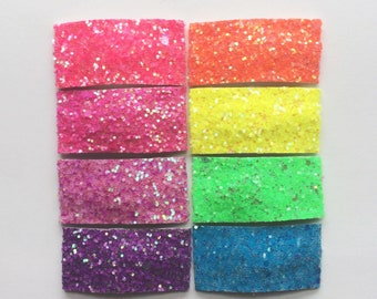 NEON SPRING/SUMMER glitter snap clip or alligator clip / neon pink/ neon yellow / neon orange / neon green / neon purple / neon blue