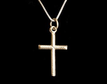 Stick Cross Sterling Silver