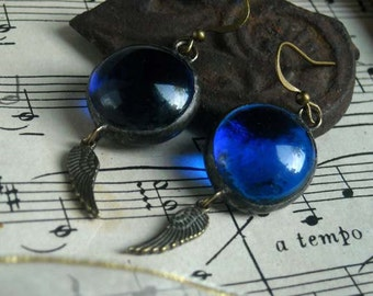 Glass Jewel Steampunk Earrings