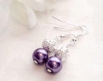Earrings, Pearl Earrings, Bridesmaid Earrings, Bridesmaid Gift, Pearl Jewelry, Wedding