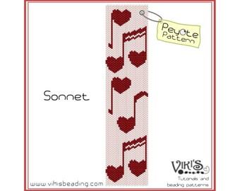 Sonnet -Peyote Bracelet Pattern - INSTANT DOWNLOAD pdf - New coupon codes