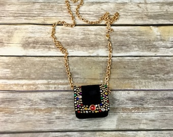 Jeweled Vintage Beaded Purse /  Beaded Pouch / Vintage Hand Bag Purse Clutch