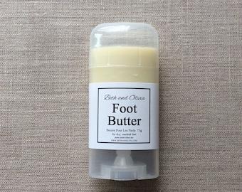 Foot butter 75g, natural foot balm, peppermint foot lotion, foot soak, lotion for feet, Foot salve,
