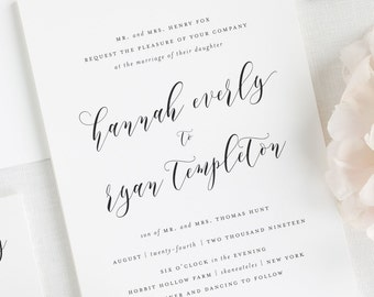 Everly Wedding Invitations - Deposit