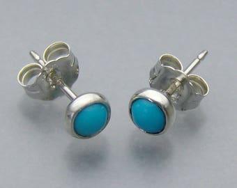 Sleeping Beauty Turquoise 5 mm stud earrings