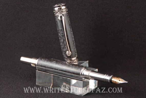 Majestic Jr. FOUNTAIN Pen in Antiqued Silver