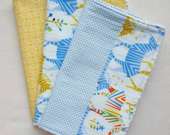Colorful Zebra Burp Cloths - can be monogrammed - Set of Three