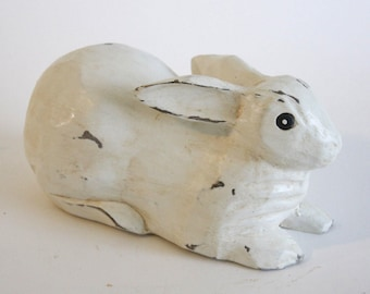 Hand-Carved White Rabbit