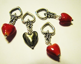 Hearts All Around  - Non-Snag Stitch Markers