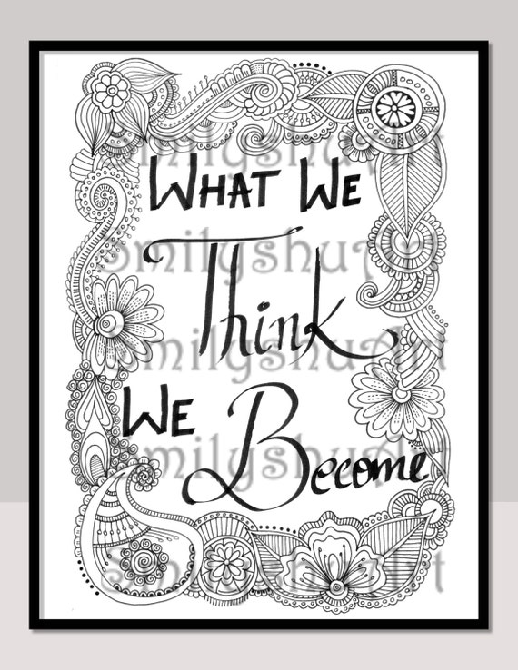 What We Think We Bee Printable