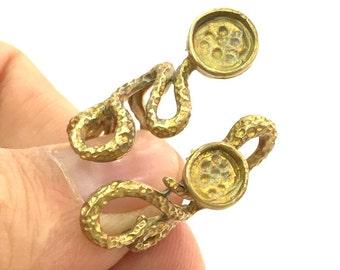 Raw Brass Adjustable Ring Blank  (6mm Blank) G3335