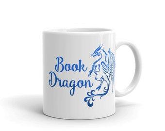 Book Lover Mug - Book Dragon - Reader Gift - Bookworm - Coffee - Tea