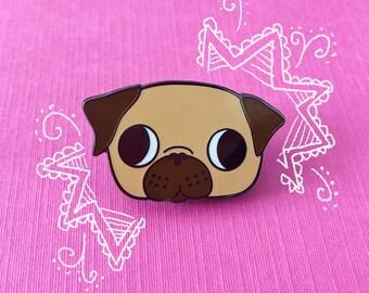 Fawn Pug | Enamel Pin