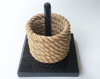 QUOIT RING TOSS game  beach game rope beach decor