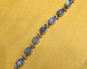 Bracelet in 925 Silver and moonstones