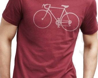 Bike Shirt Bicycle T-shirt Mens T shirt Cycle Bike Gift Dad Gift Valentine's Gift Tshirt Bicycle Clothing