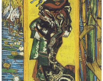 Hand-cut wooden jigsaw puzzle. OIRAN. Van Gogh. Impressionist puzzle. Impressionism. Wood, collectible. Bella Puzzles.