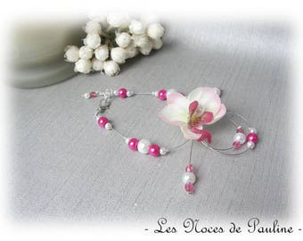 Bracelet pink and white Orchid v2 Candice