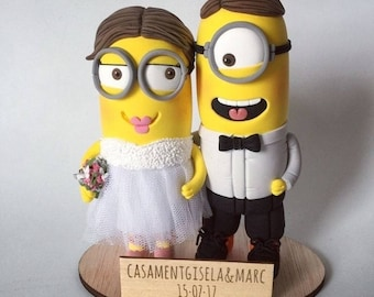 Wedding cake topper Minion
