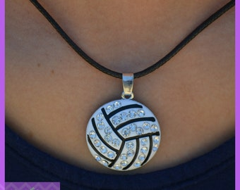 Volleyball Gift Girls Volleyball Jewelry - Volleyball Team Gift - Large Pendant Volleyball Necklace - Volleyball Coach - Volleyball Mom