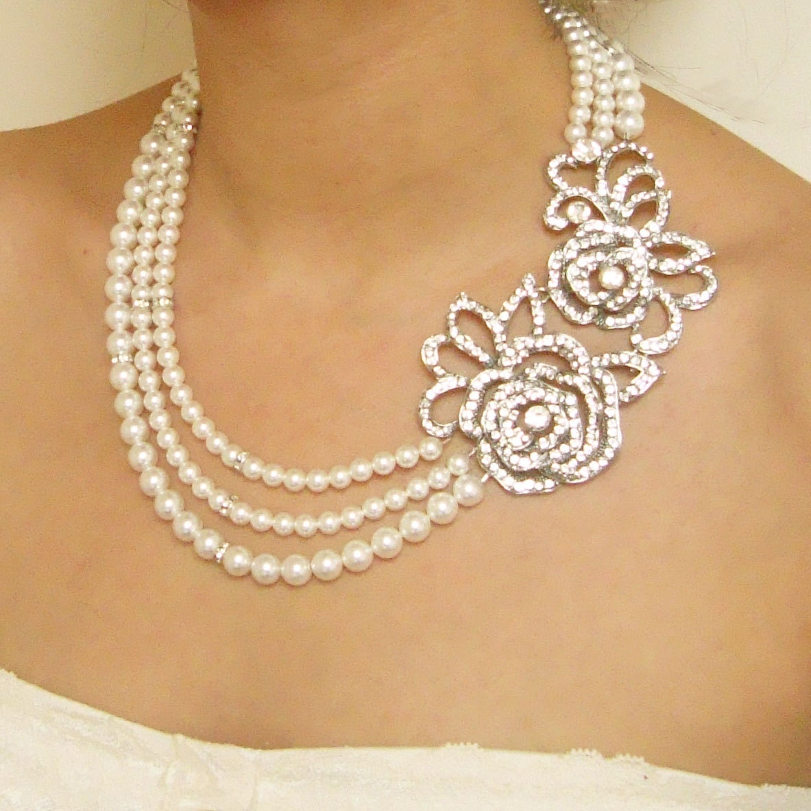 of sat cubic bridal demo nithyakalyani necklace zirconia type studded necklaces jewellery