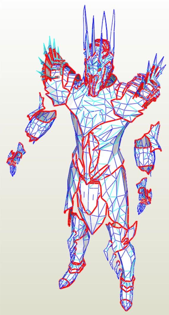 Sauron armor suit EVA Foam templates to build your own