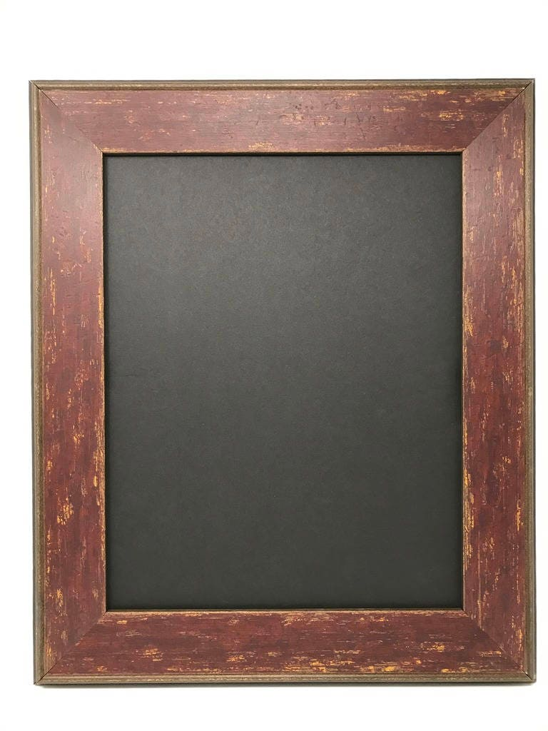 20x24 2.25 Red Country Farmhouse Solid Wood Picture Frame